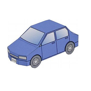 Toy Car 3D Puzzles Paper Model Plane / Aircraft Train Car Ship Bus DIY Classic Train Police car Ambulance Vehicle Kid's Unisex Gift