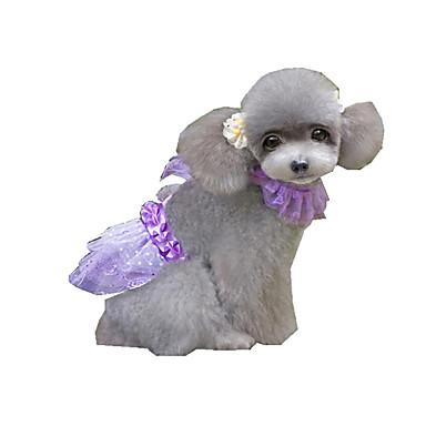 Hund Kjoler Hundeklær Paljetter Lilla Rød polyester Kostume For kjæledyr Sommer Dame Fritid / hverdag