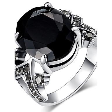 billige Motering-Dame Statement Ring / Ring Onyks / Krystall Svart / Rød / Blå Harpiks / Strass / Chrome Statement / damer / Personalisert Jul / Julegaver / Bryllup Kostyme smykker / Solitaire