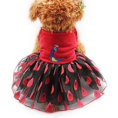 Gato Cachorro Vestidos Smoking Roupas para Cães Festa Casual Casamento Animal Amarelo Vermelho Rosa claro Ocasiões Especiais Para animais