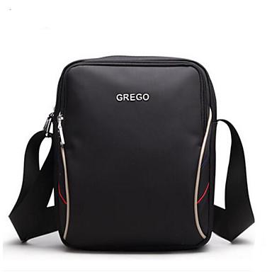 Men Shoulder Bag Polyester All Seasons Casual Outdoor Round Zipper Black Coffee