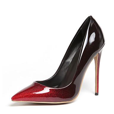 Mulheres Sapatos Courino Primavera Verão Sapatos formais Saltos Salto Agulha Dedo Apontado para Casamento Festas & Noite Social Bege