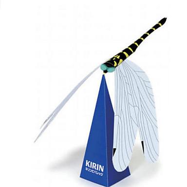 3D-puslespill Papirmodell Papirkunst Modellsett Dragonfly Insekt simulering GDS Hardt Kortpapir Klassisk Barne Gutt Unisex Gave