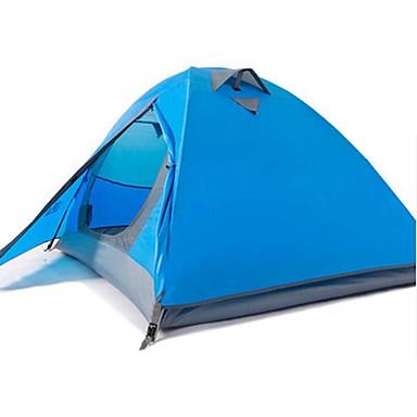 BSwolf 2 personer Telt Dobbelt Lagdelt camping Tent Utendørs Vanntett, Regn-sikker, Ultraviolet Motstandsdyktig til Camping & Fjellvandring 2000-3000 mm Terylene, Glassfiber
