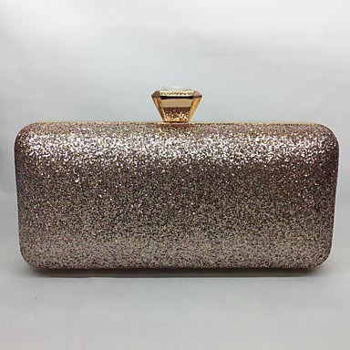 Women Bags All Seasons Metal Evening Bag for Event/Party Champagne Gold Black Silver