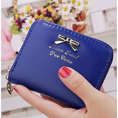 Women's Bags PU Checkbook Wallet for Casual Fuchsia / Deep Blue / Red