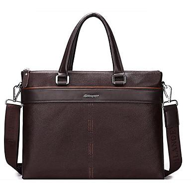 Men Bags All Seasons Cowhide Shoulder Bag for Casual Outdoor Black Brown