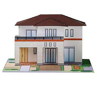3D-puslespill Papirkunst Leketøy Kvadrat Kjent bygning Hus Arkitektur 3D GDS Hardt Kortpapir Unisex Deler