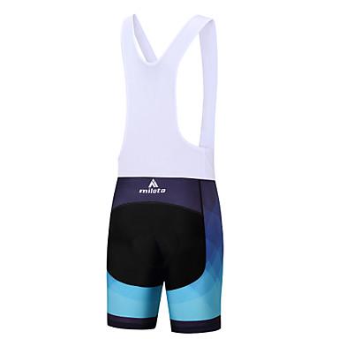 Miloto Men's Cycling Bib Shorts Bike Bib Shorts / Padded Shorts / Chamois / Bottoms Polyester, Spandex White / Black Bike Wear