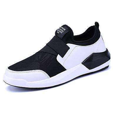 Miesten kengät PU Kesä Comfort Lenkkitossut Kuminauhalla varten Urheilullinen Musta Musta/valkoinen Musta/punainen