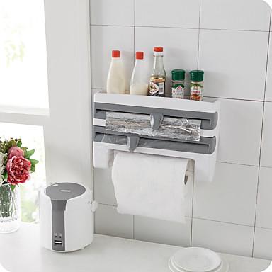 1pc cozinha plásticos fresco mantendo filme alumínio alumínio churrasco prateleiras de papel& detentores