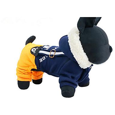 Hund Seler Hundeklær Fritid/hverdag Bokstav & Nummer Mørkeblå Gul Kostume For kjæledyr