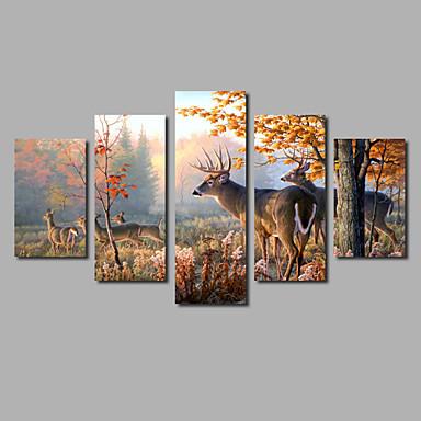 Laminado Impressão De Canvas Abstracto, 5 Painéis Tela de pintura Panorâmico horizontal Estampado Decoração de Parede Decoração para casa