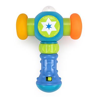 Hammering / Pounding Toy Iluminação de LED Acessório para Casa de Boneca Música e luz Plásticos Crianças Brinquedos Dom