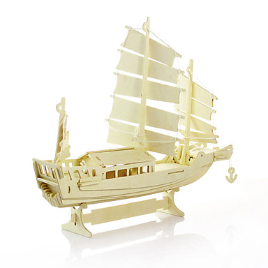 Wood Model Model Building Kits Toys Ship Wooden Not Specified Pieces