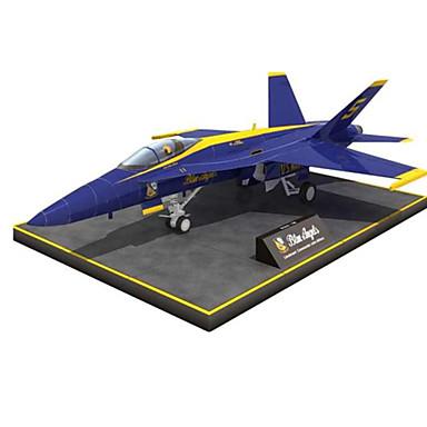 Quebra-Cabeças 3D Maquetes de Papel Artesanato de Papel Brinquedos de Montar Aeronave Lutador Simulação Faça Você Mesmo Cartão de Papel