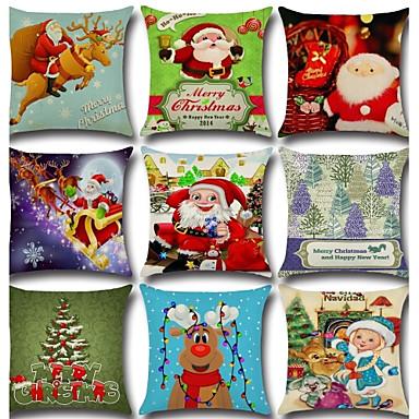 1 pcs Cotton/Linen Pillow Cover Pillow Case,Novelty Classic Christmas Classical Retro Traditional/Classic Neoclassical Christmas
