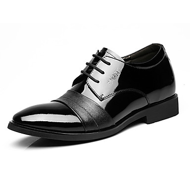 Men's Shoes Leather Spring Fall Formal Shoes Oxfords for Office & Career Black