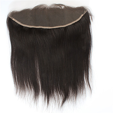 4x13 Closure Straight / Classic Free Part Swiss Lace Human Hair Daily