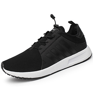 Men's Shoes PU Spring Fall Comfort Sneakers for Outdoor Black Blue
