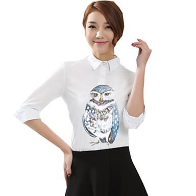 Bluse/Skjorte Klassisk og Tradisjonell Lolita Lolita Cosplay Lolita-kjoler Trykt mønster Langermet Genser Til Bomullsstoff