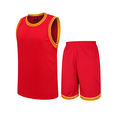 Men's Sleeveless Basketball Clothing Suits Shorts Wearproof Sports