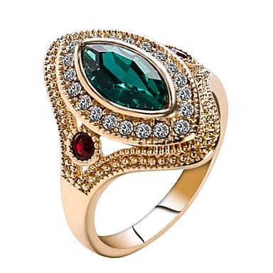 billige Motering-Dame Statement Ring / Ring / tommelfingerring Krystall Rød / Grønn Harpiks / Strass / Chrome Statement / damer / Personalisert Jul / Julegaver / Bryllup Kostyme smykker / Solitaire