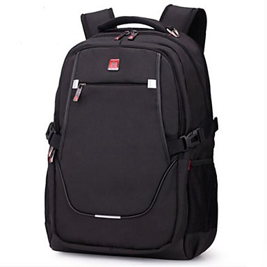 Men's Bags Polyester Backpack for Casual All Seasons Black