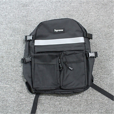 Unisex Bags All Seasons Canvas Backpack for Casual Black