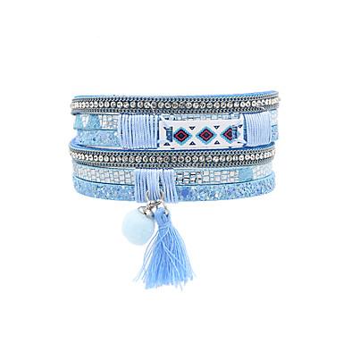 Women's Tassel Leather Bracelet - Leather Vintage, Bohemian, Fashion Bracelet Red / Pink / Light Blue For Wedding / Anniversary / Birthday