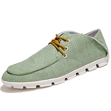 Men's Shoes PU Spring Fall Comfort Sneakers for Outdoor Beige Gray Green Blue