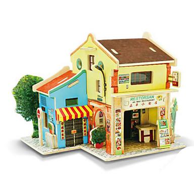 Robotime 3D Puzzles Jigsaw Puzzle Wood Model Model Building Kit Architecture 3D DIY Wood Classic Unisex Gift