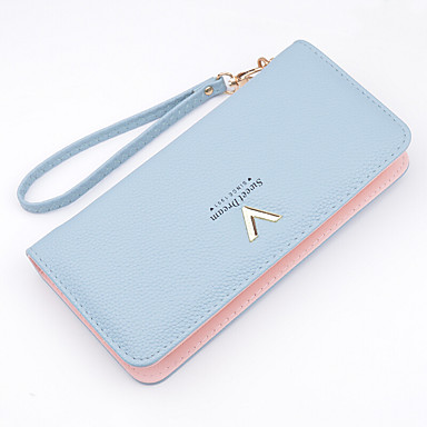 Women's Bags PU Money Clip for Shopping / Daily Gray / Sky Blue / Pink
