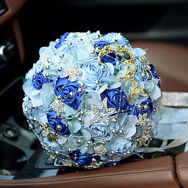 Bouquets de Noiva Buquês Casamento Miçangas / Renda / Seda 11.02