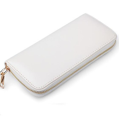 Women Bags All Seasons PU Checkbook Wallet for Casual White Black Navy Blue