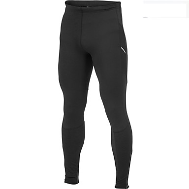Men's Women's Running Tights Fitness, Running & Yoga Tights Bottoms for Running/Jogging Exercise & Fitness Cotton Tight Black