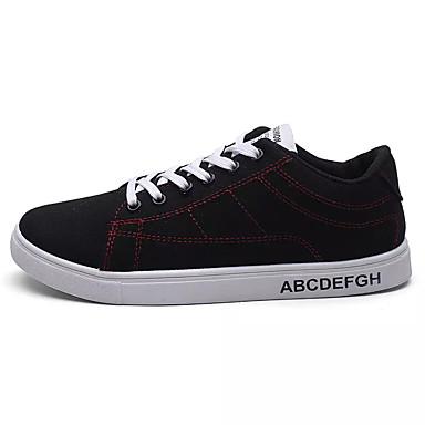 Homens sapatos Tecido Primavera Outono Conforto Tênis Cadarço para Casual Dourado Branco / Preto Preto / Vermelho
