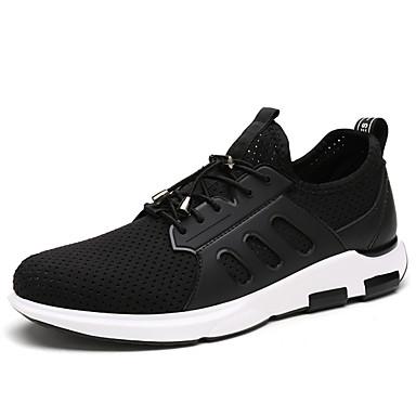 Miesten kengät PU Kesä Comfort Urheilukengät Kävely varten Urheilullinen Musta