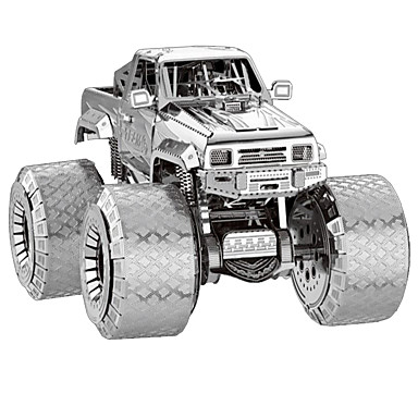 3D Puzzles Metal Puzzles Model Building Kits Toys Truck 3D Furnishing Articles Chrome Metal Not Specified Pieces