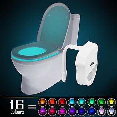 HKV 1 Pça. Luz de toalete Sensor infravermelho Cores Variáveis