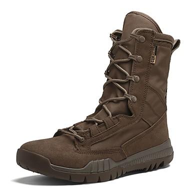 Herre sko Semsket lær Vinter Cowboy/Westernstøvler Snøstøvler Trendy støvler Motorsykkelstøvler Støvler Turjogging Snøring Til Atletisk