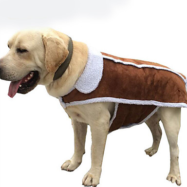 Dog Jumpsuit Dog Clothes Solid Colored Cotton Down Costume For Pets Men's Women's Casual / Daily