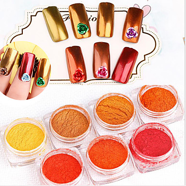 Pinpai Nail 7 Color A Single Local Gold Rose Gold Mirror 2g Mirror One Fish Meal A Very Fine Mirror Laser Nail Glitter