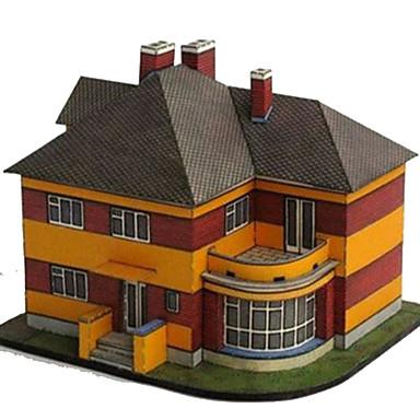 3D Puzzles Paper Craft Toys Square Famous buildings House Architecture 3D DIY Simulation Hard Card Paper Unisex Pieces