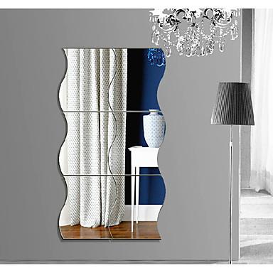 Abstrakt Former 3D Veggklistremerker Veggklistremerker i Speilstil Dekorative Mur Klistermærker, Akryl Hjem Dekor Veggoverføringsbilde