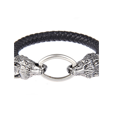 Bangles - Leather Friends Natural, Punk, Gothic Bracelet Black For Wedding Party / Quinceañera & Sweet Sixteen / Holiday