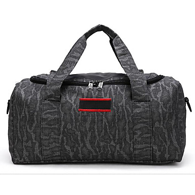 Unisex Travel Bag PU Oxford Cloth Polyester All Seasons Casual Outdoor Rectangle Zipper Black Brown Army Green