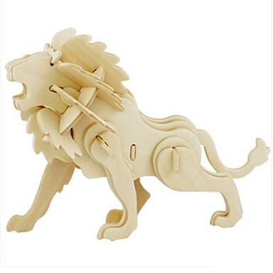 Robotime 3D építőjátékok Fejtörő Wood Model Modeli i makete Oroszlán DIY Fa Gyermek Uniszex Ajándék