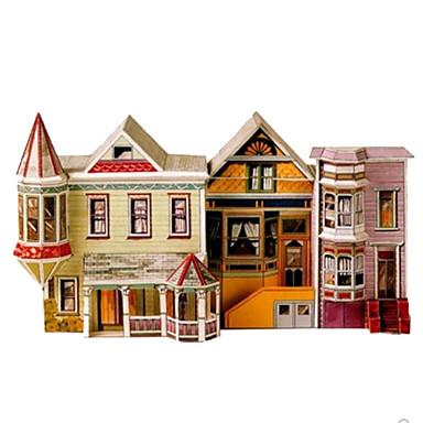 3D-puslespill Papirkunst Kvadrat Kjent bygning Hus Arkitektur 3D GDS Hardt Kortpapir Alle Aldre