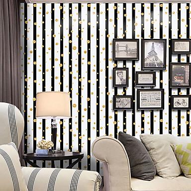 Listrado Art Deco Pontos Decoração para casa Moderno/Contemporâneo Revestimento de paredes, PVC/Vinil Material Auto-adesivo papel de